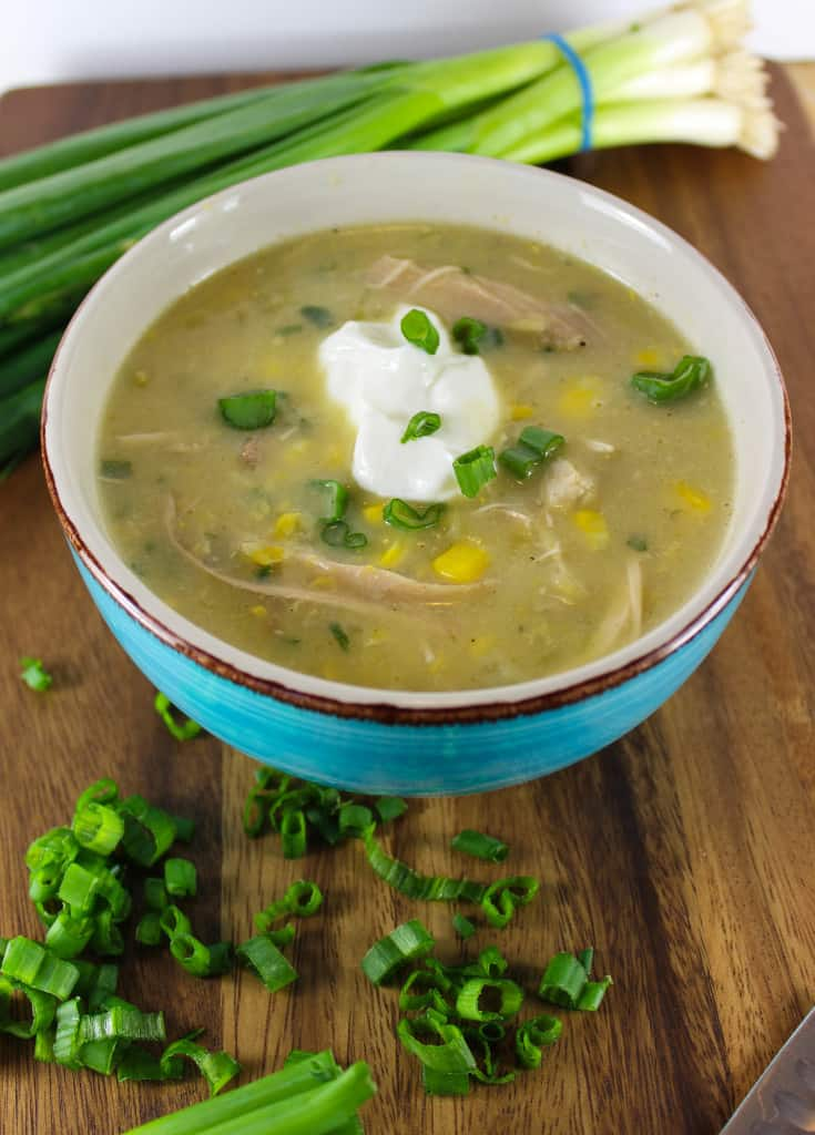 Healthy chicken-corn chowder