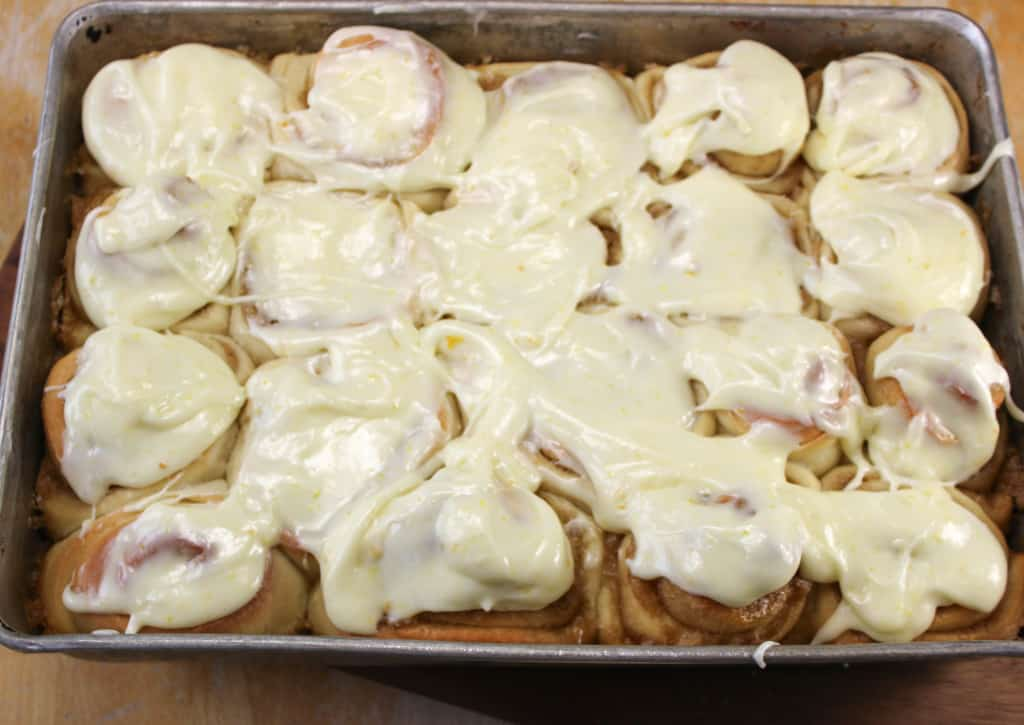Orange Sweet Rolls _in pan