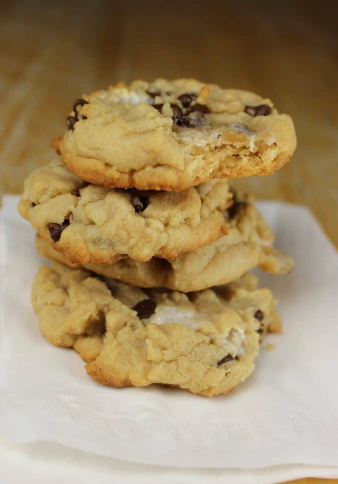 Marshmallow Chocolate Chip Peanut Butter Cookies
