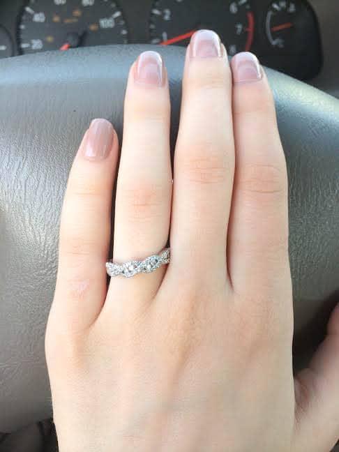 Enagement Ring on ring finger