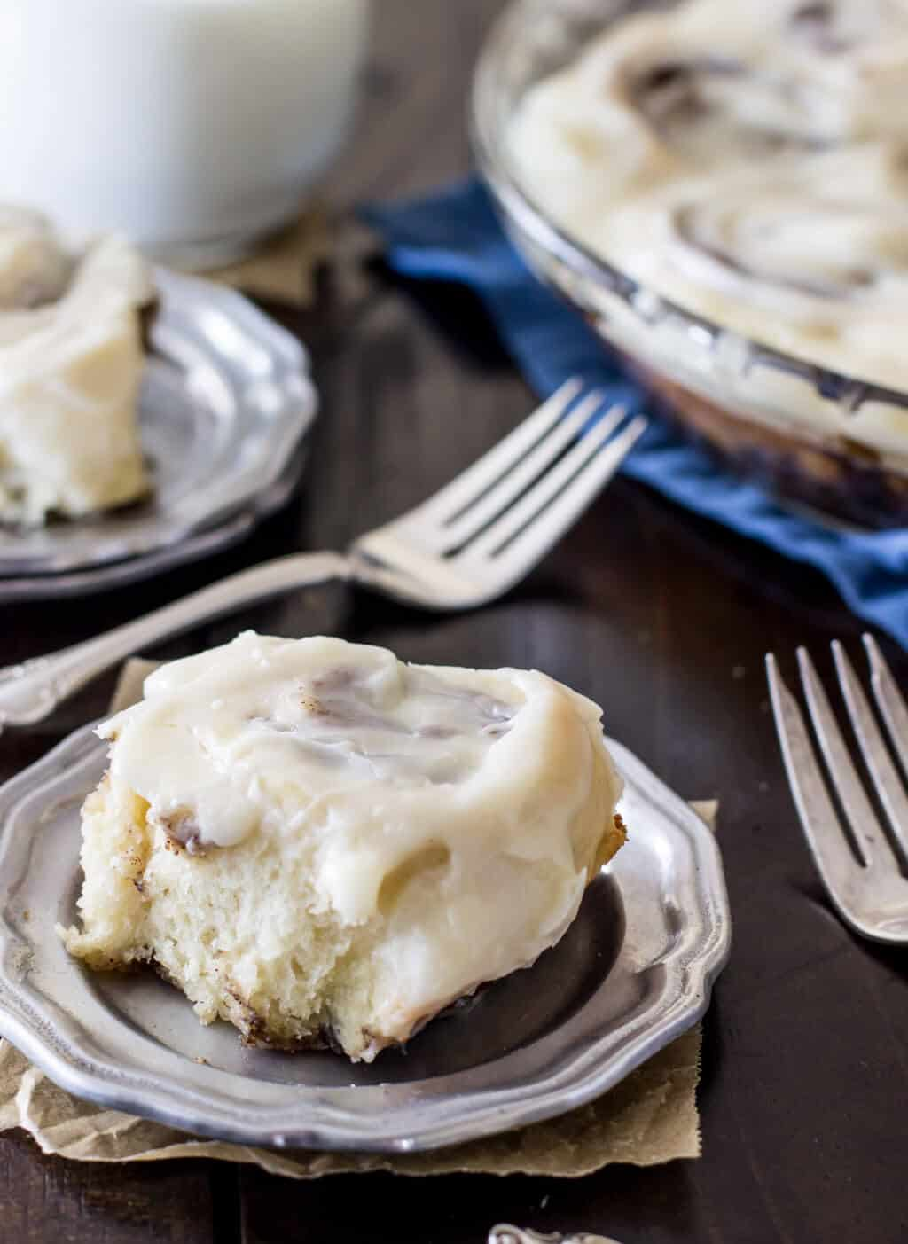 No yeast cinnamon rolls! These are so easy!