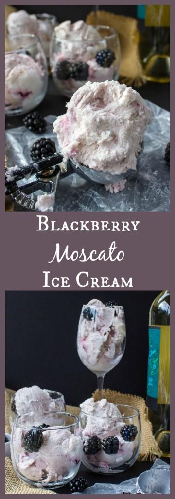 Blackberry Moscato Ice Cream--5 Ingrediens and no ice cream maker!!