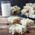 piece of cookie dough fudge
