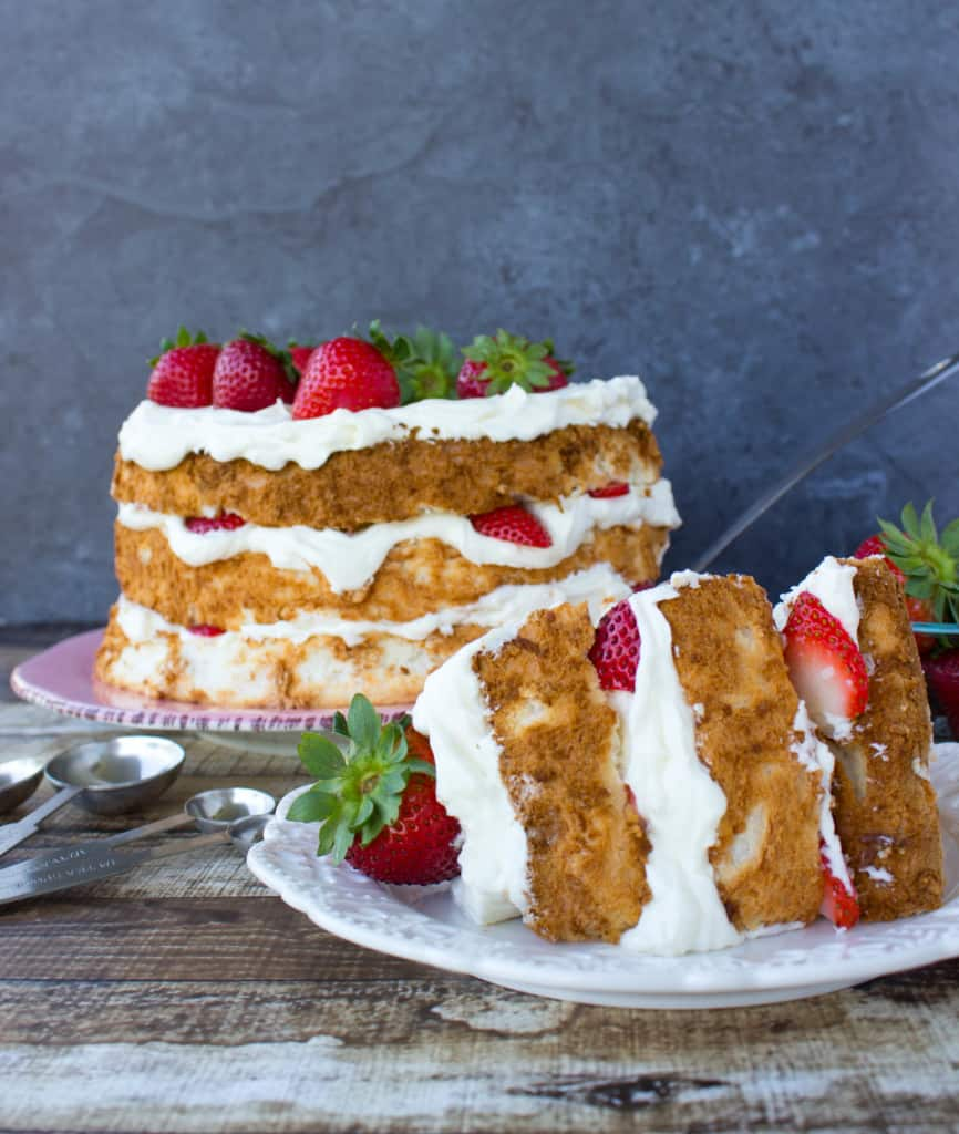 Lemon Layered Angel Food Cake-12