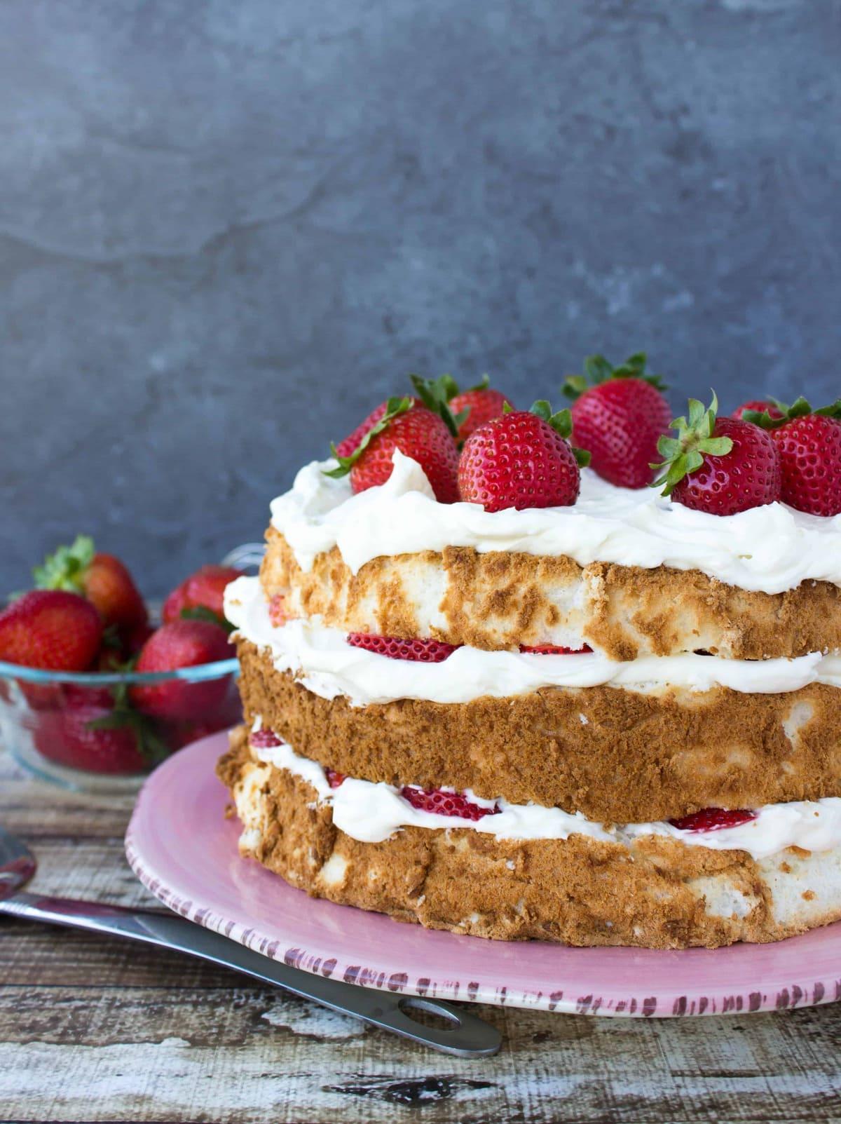 Strawberry cake crush - 5 8