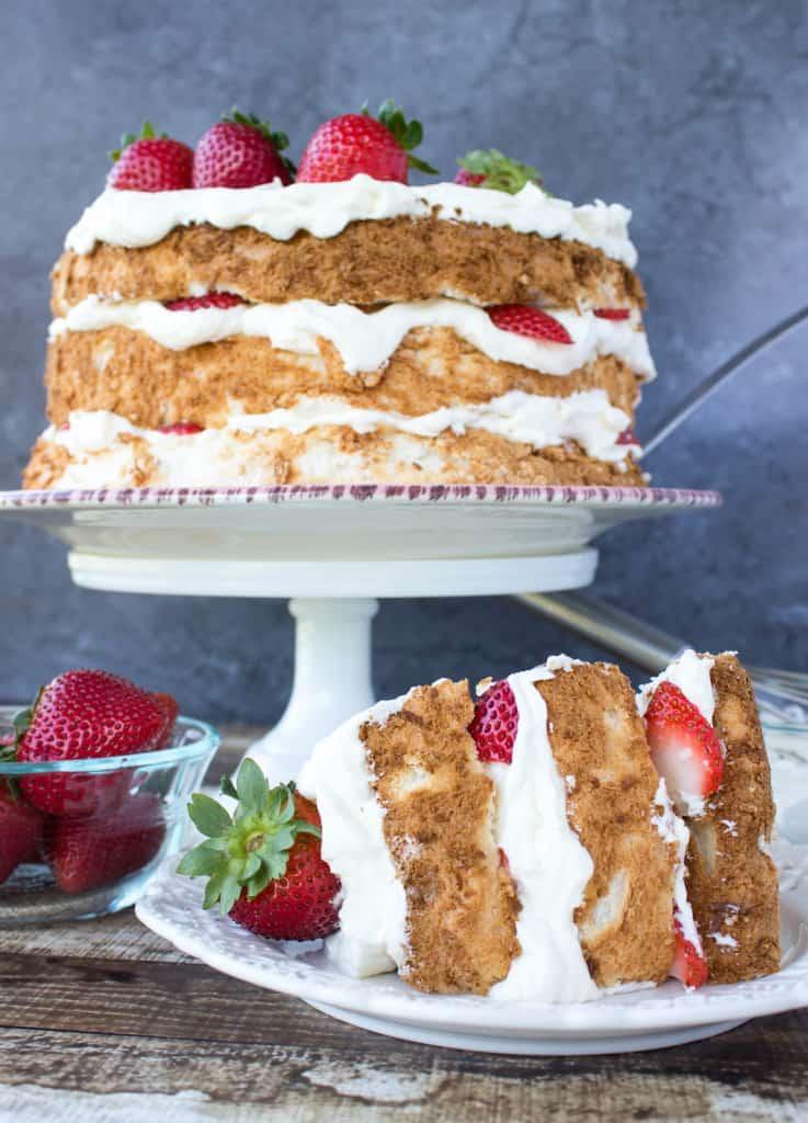 Lemon Layered Angel Food Cake