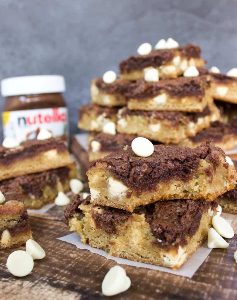 Nutella Cheesecake Blondies-5