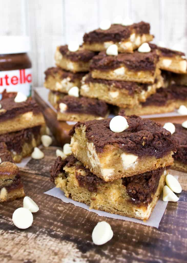 Nutella Cheesecake Blondies