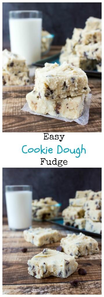 Easy Cookie Dough Fudge Sugar Spun Run