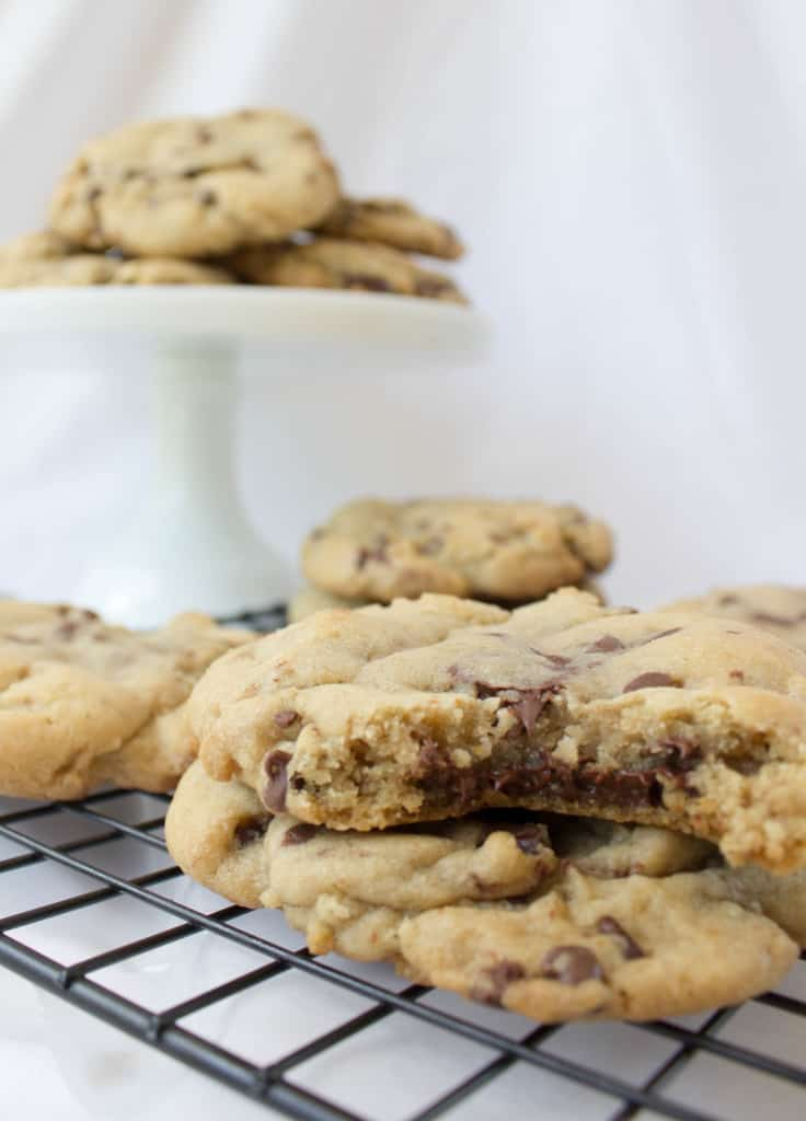 Brown Butter and Bourbon Cookies -- close up
