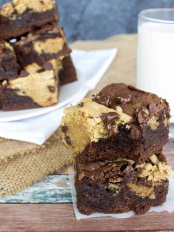 two cookie/brownie bars