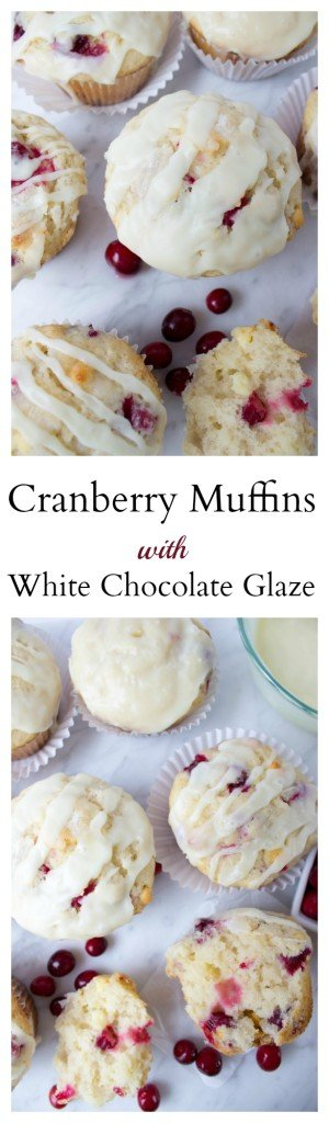 Cranberry Muffins with a scrumptious White Chocolate Glaze