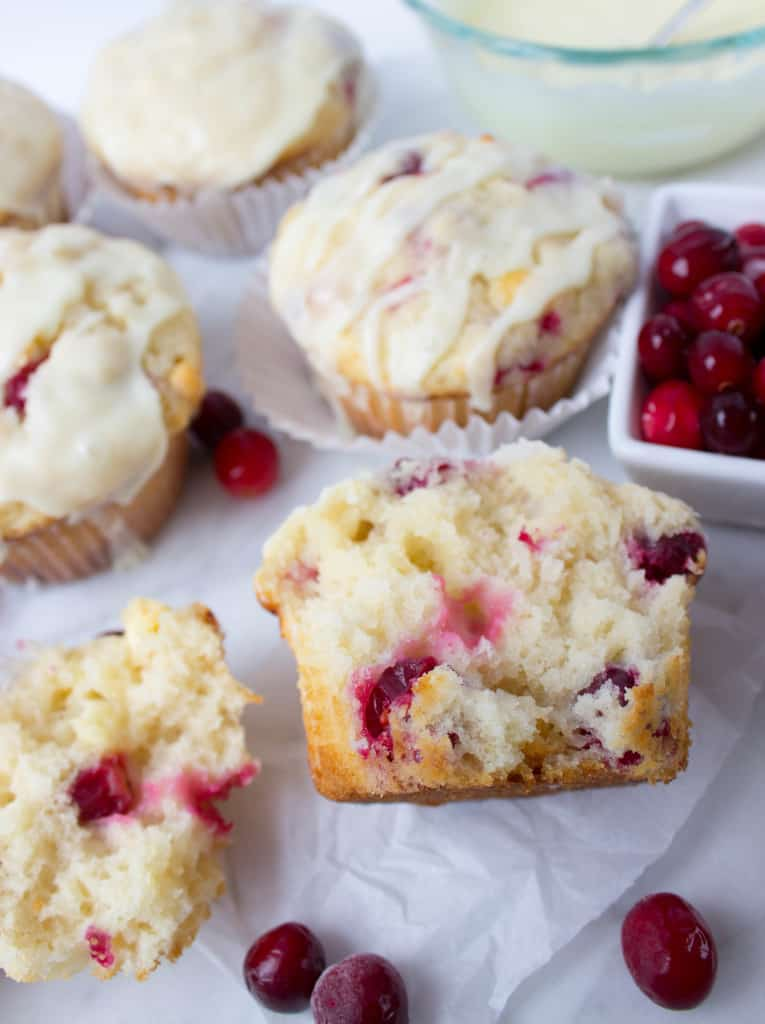 ... white chocolate glaze, these cranberry white chocolate muffins are the