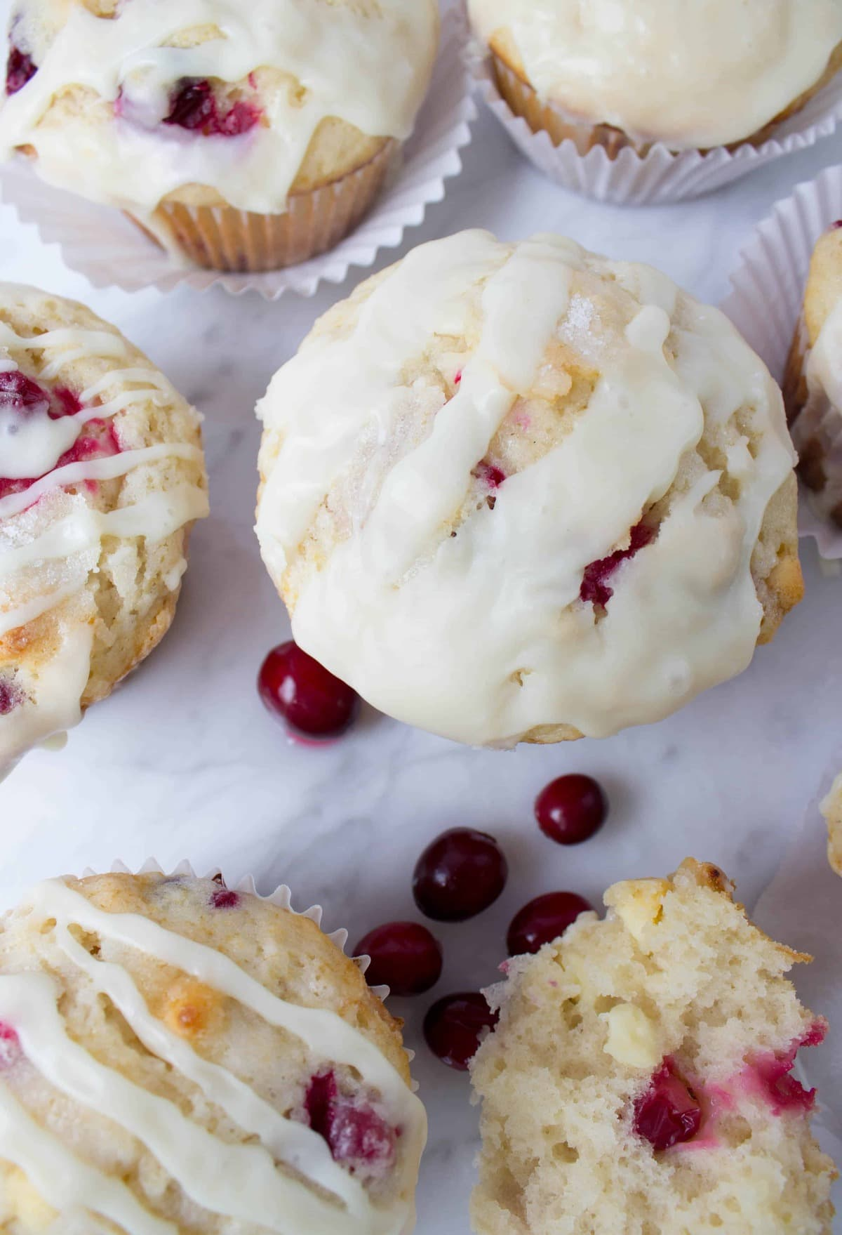 Cranberry White Chocolate Muffins - Sugar Spun Run