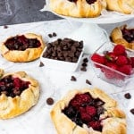 small fruit and chocolate galettes