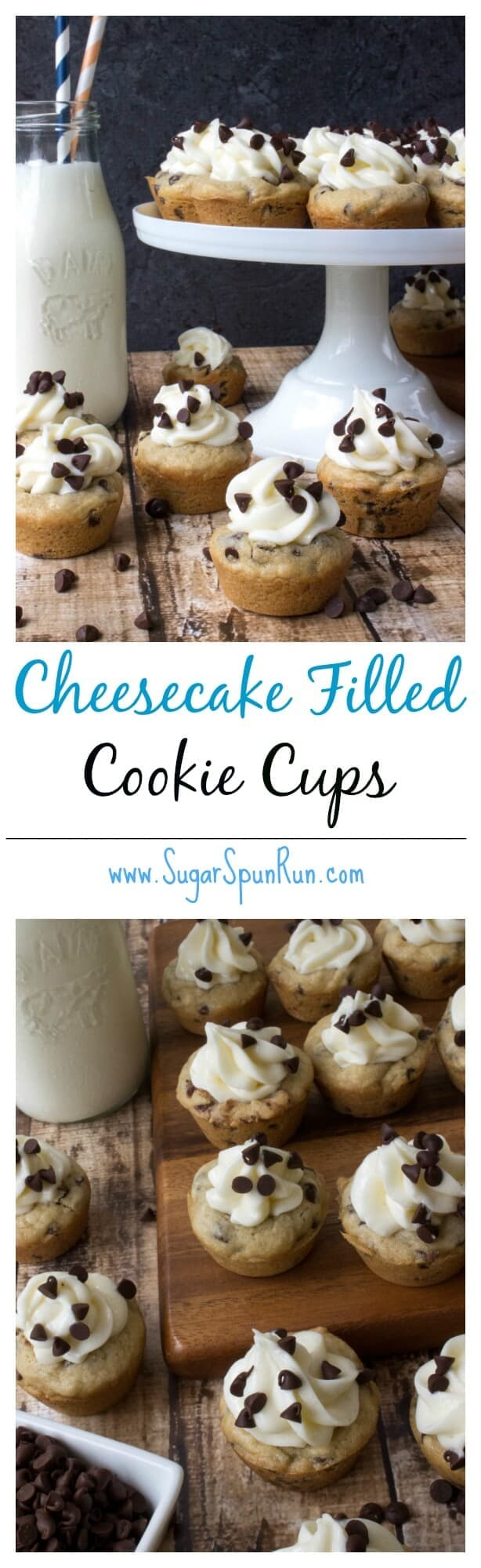 Cheesecake Filled Cookie Cups - Sugar Spun Run