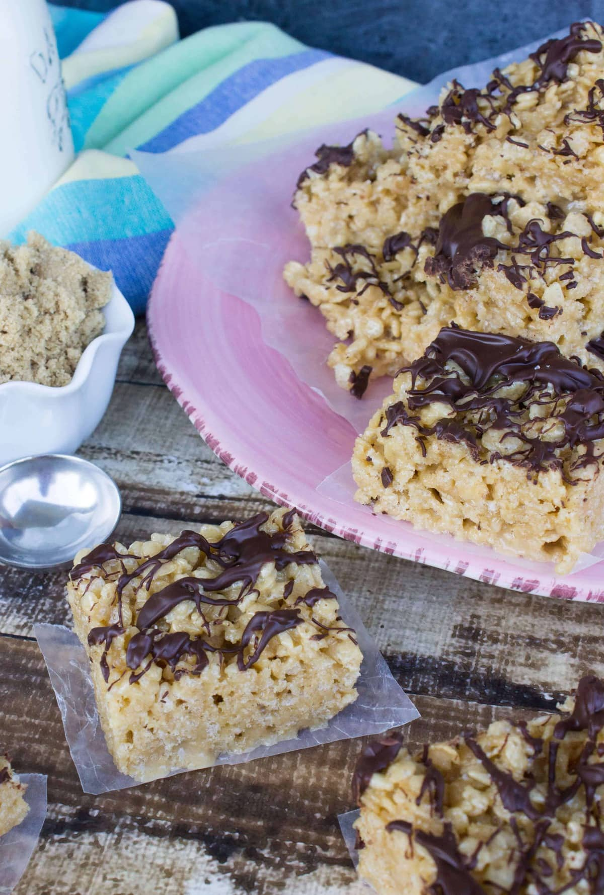 Caramelized Rice Krispie Treats - Sugar Spun Run