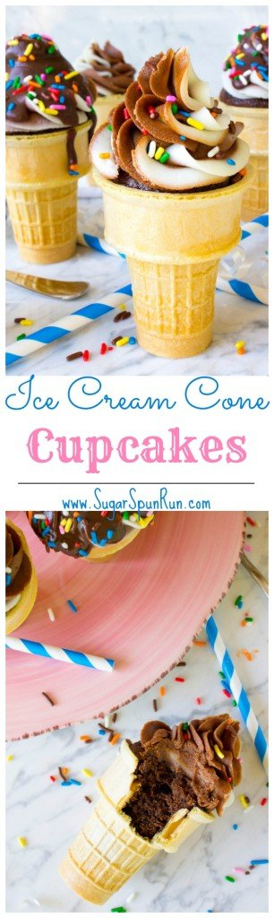 Ice Cream Cone Cupcakes SugarSpunRun