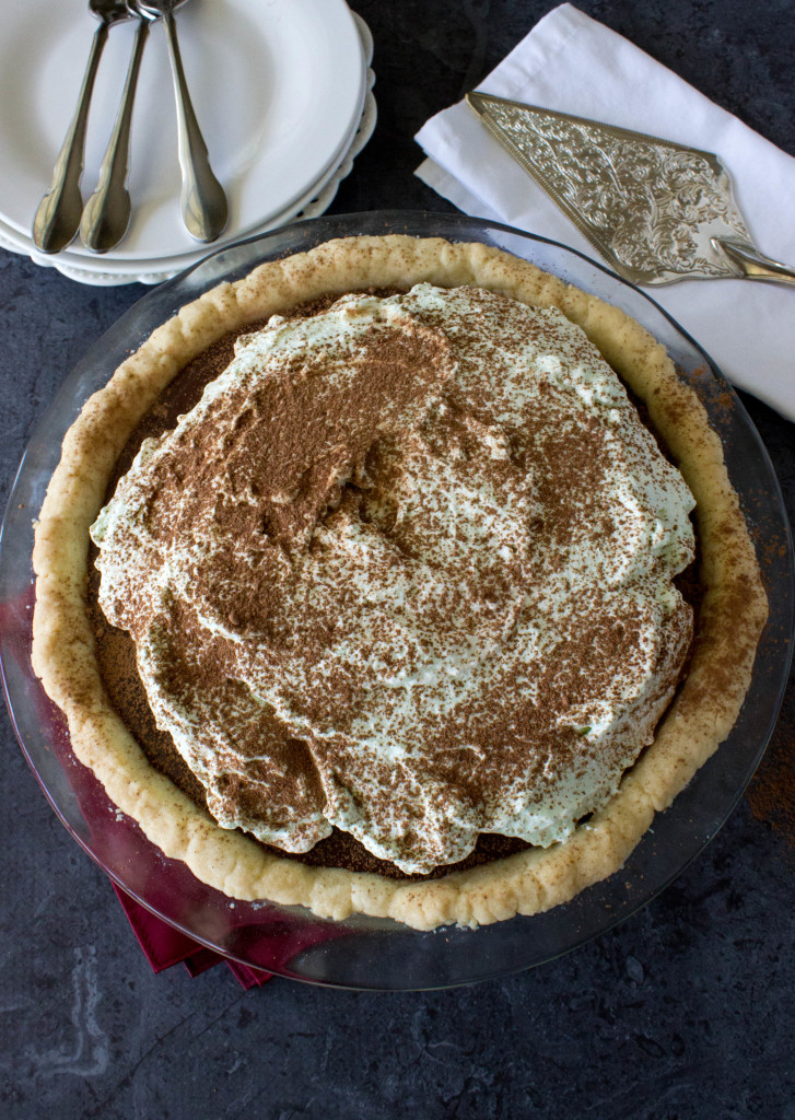 Chocolalate Pie with Mint Whipped Cream on a Shortbread Crust ||SugarSpunRun