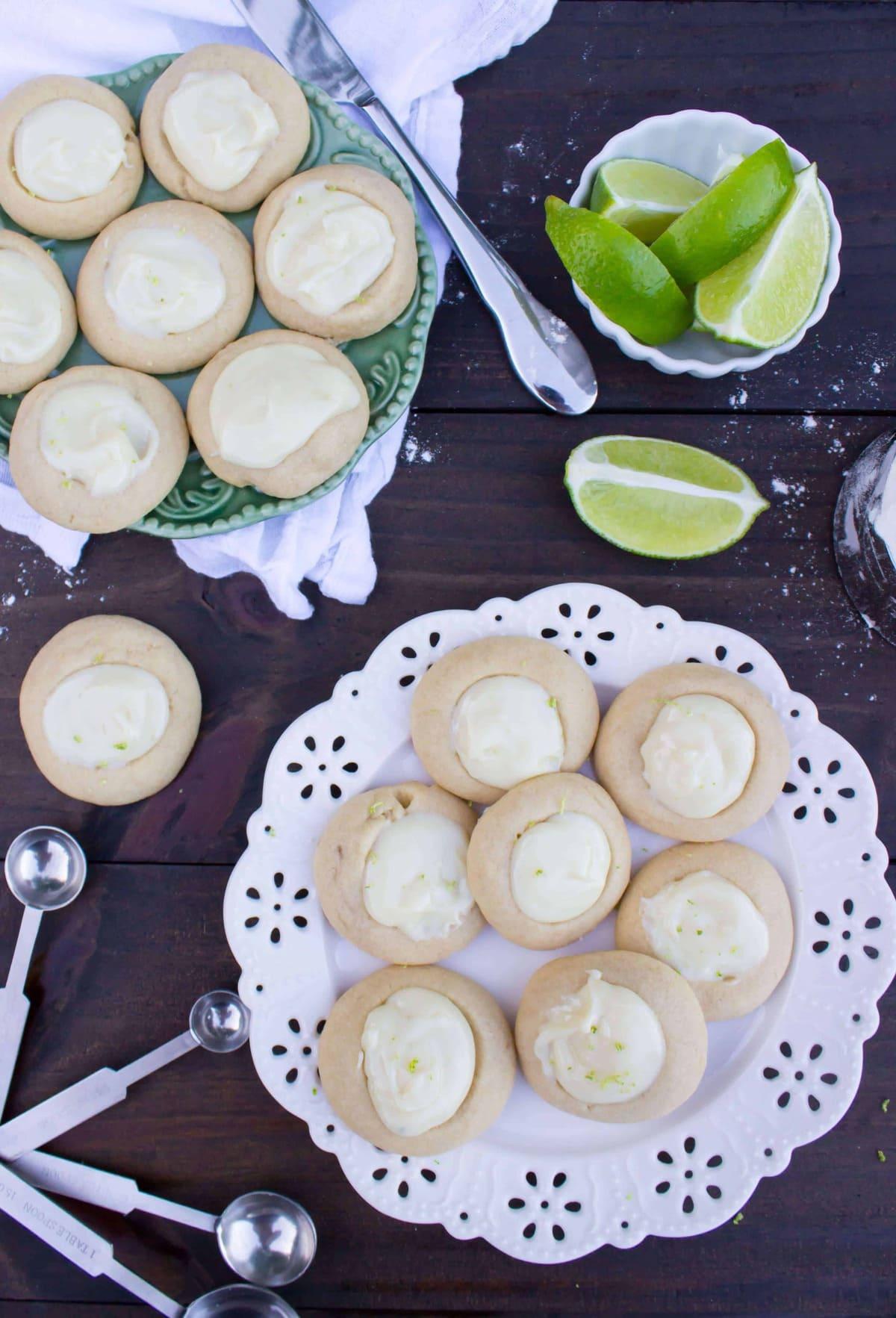 Key Lime Thumbprint Cookies - Sugar Spun Run