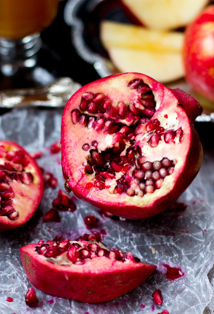 Pomegranate Apple Cider Sorbet || SugarSpunRun.com