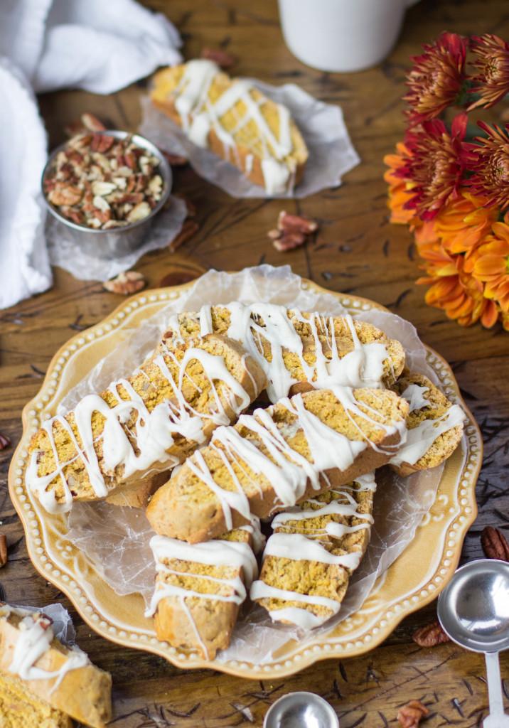 Easy Pumpkin Spice Biscotti || SugarSpunRun