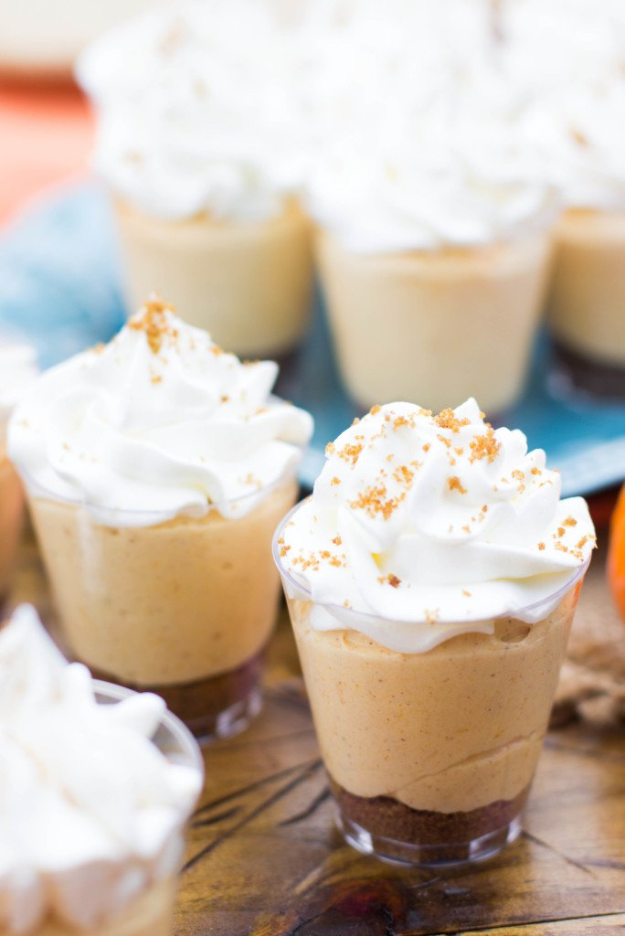 No-Bake Pumpkin Pie Cheesecake Dessert Shooters make for fun, festive ...