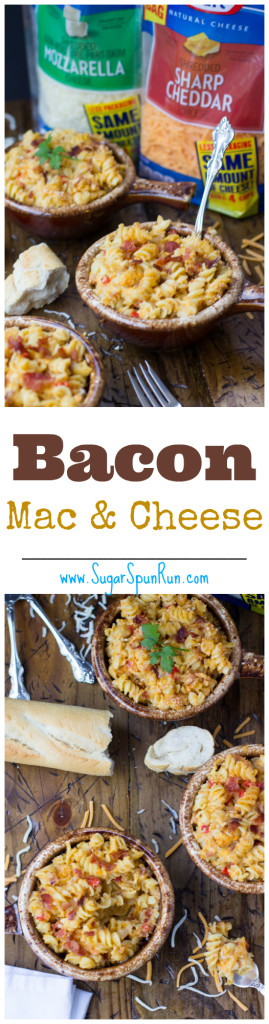 Bacon Mac & Cheese -- so good SugarSpunRun