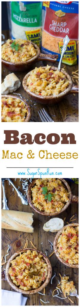 Bacon Mac & Cheese -- so good SugarSpunRun