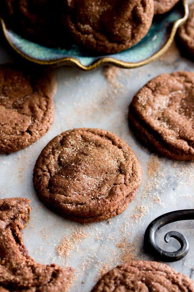 Chocolate Snickerdoodles -- these are amazing!    Sugar Spun Run