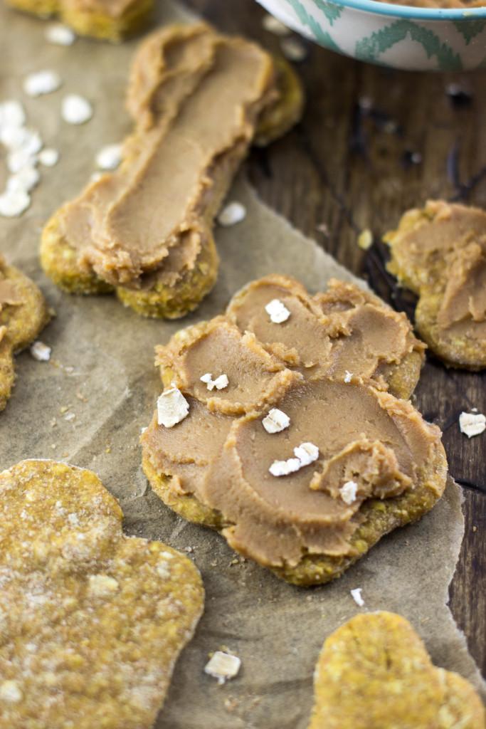 homemade dog cookie shaped like pawprint