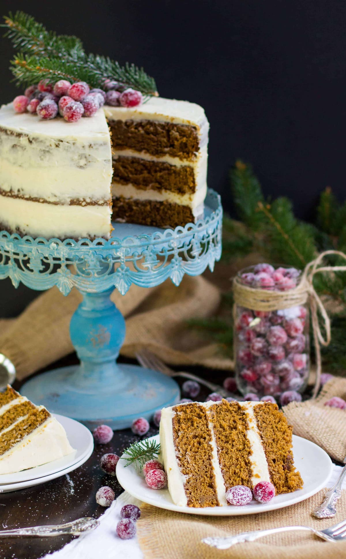 Gingerbread Layer Cake With Brown Sugar Amp Bourbon