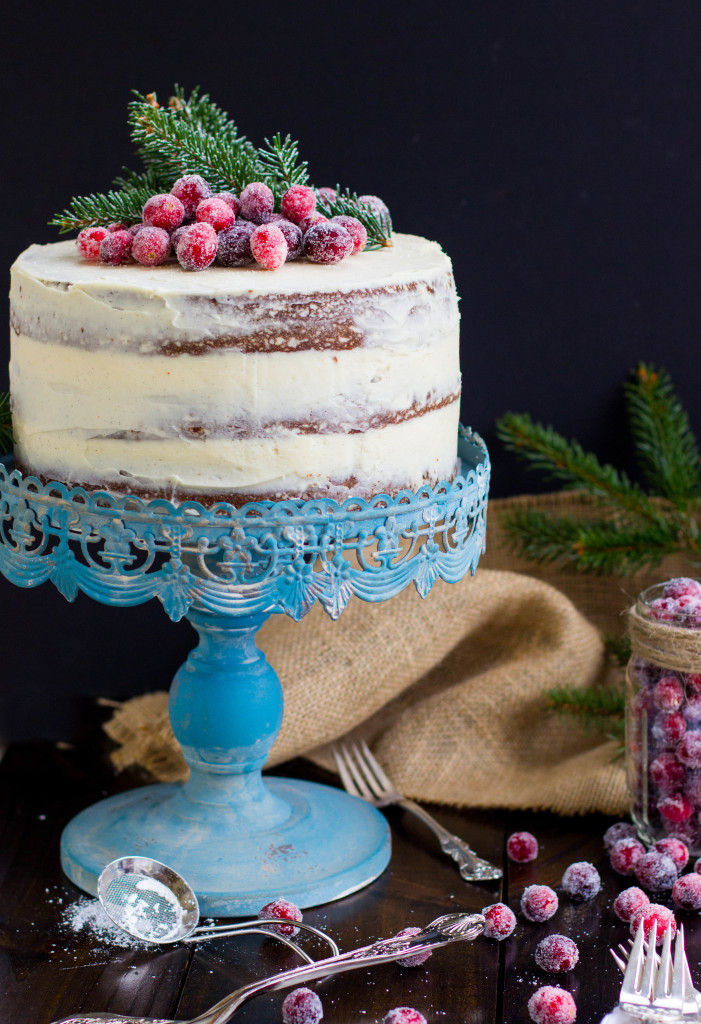 Gingerbread Layer Cake with Brown Sugar & Bourbon Cream Cheese Frosting
