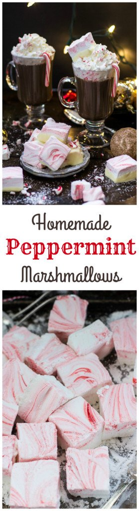 Homemade Peppermint Marshmallows -- from www.SugarSpunRun.com