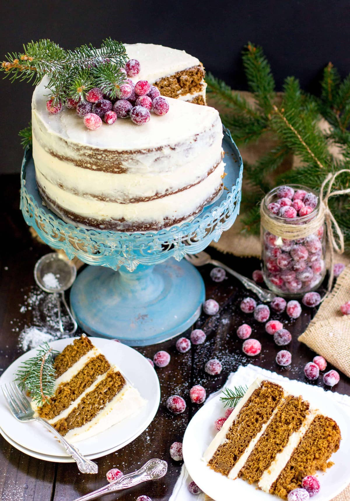 Gingerbread Layer Cake {with Brown Sugar & Bourbon ...
