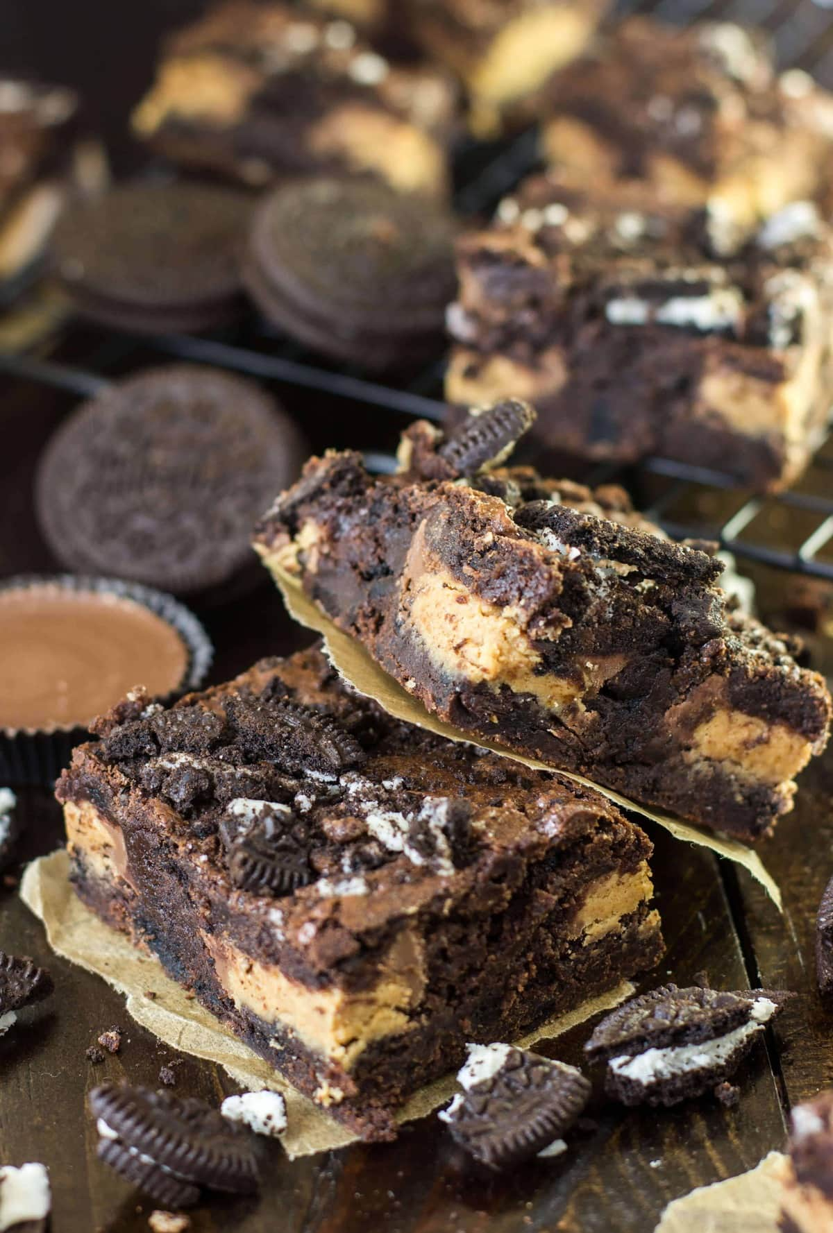 peanut butter oreo brownies-2