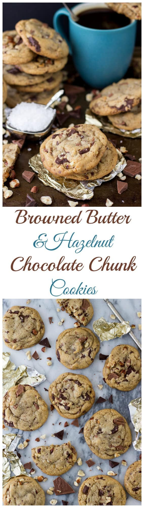 Browned Butter & Hazelnut Chocolate Chip Cookies - Sugar ...