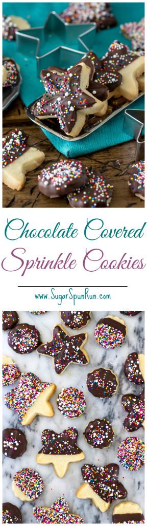 Chocolate covered shortbread cookies SugarSpunRun