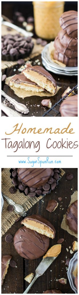 Homemade Tagalong Girl Scout Cookies www.SugarSpunRun.com