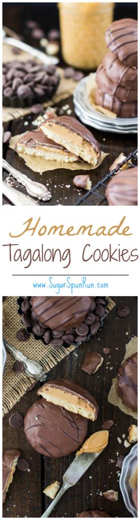 Homemade Tagalong Girl Scout Cookies www.SugarSpunRun.com