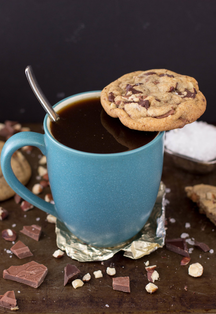 hazelnut chocolate brown butter cookies-13