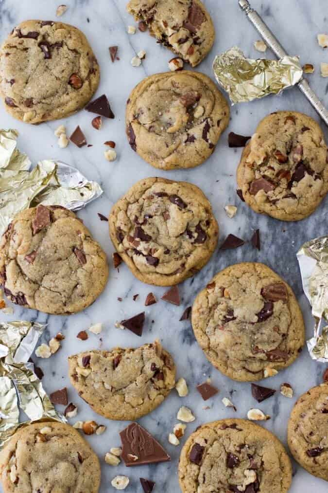 cookies on marble backdrop