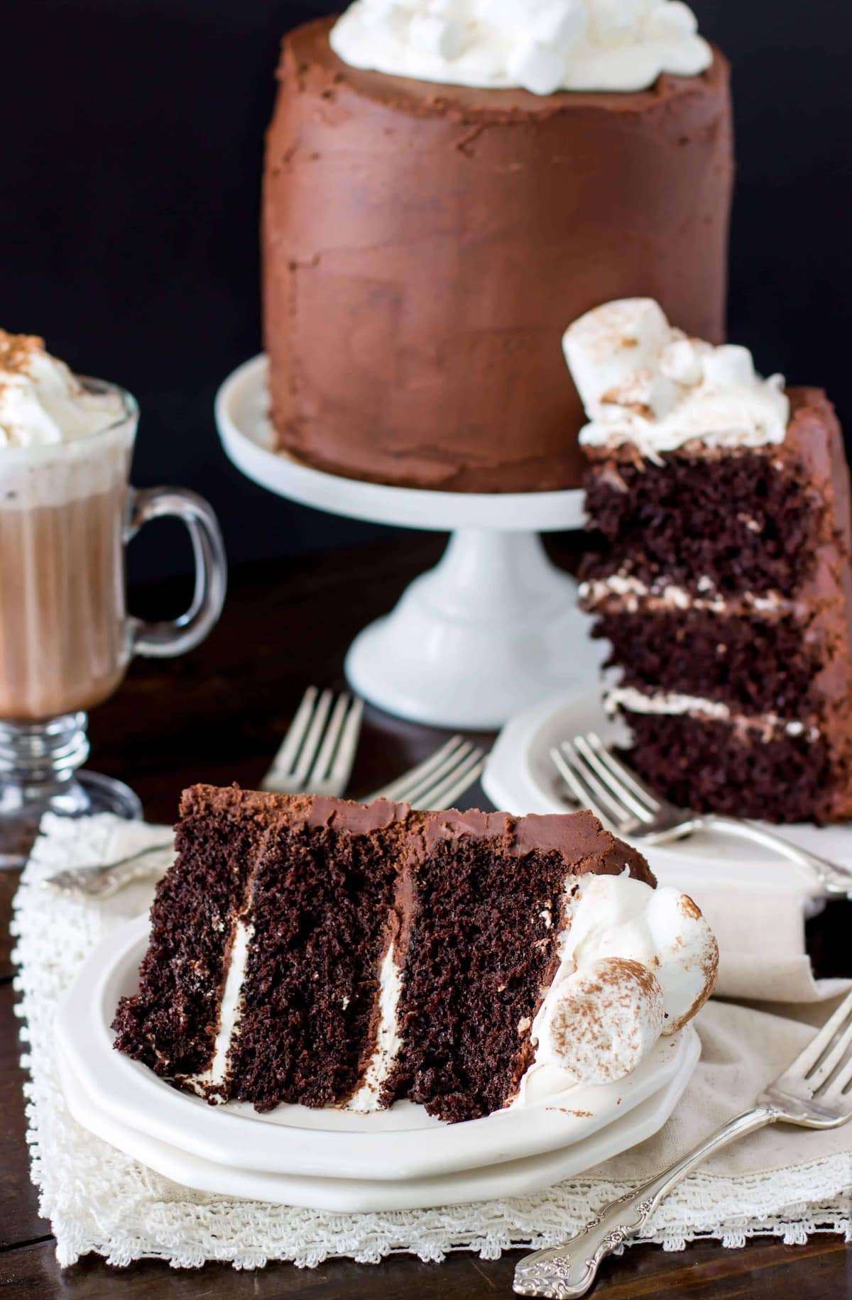 Hot Chocolate Cake - Sugar Spun Run