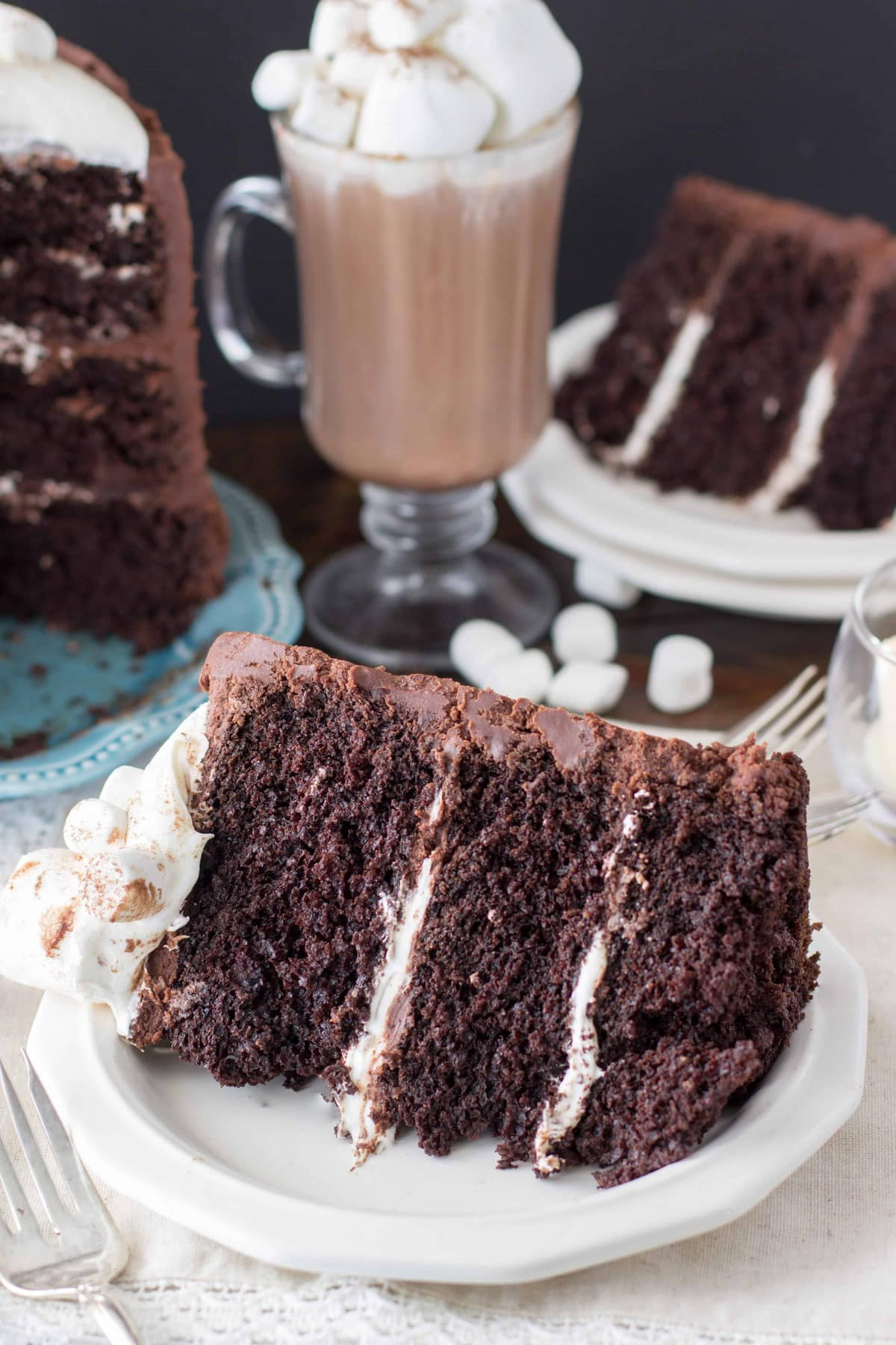 Hot Chocolate Cake - Sugar Spun Run