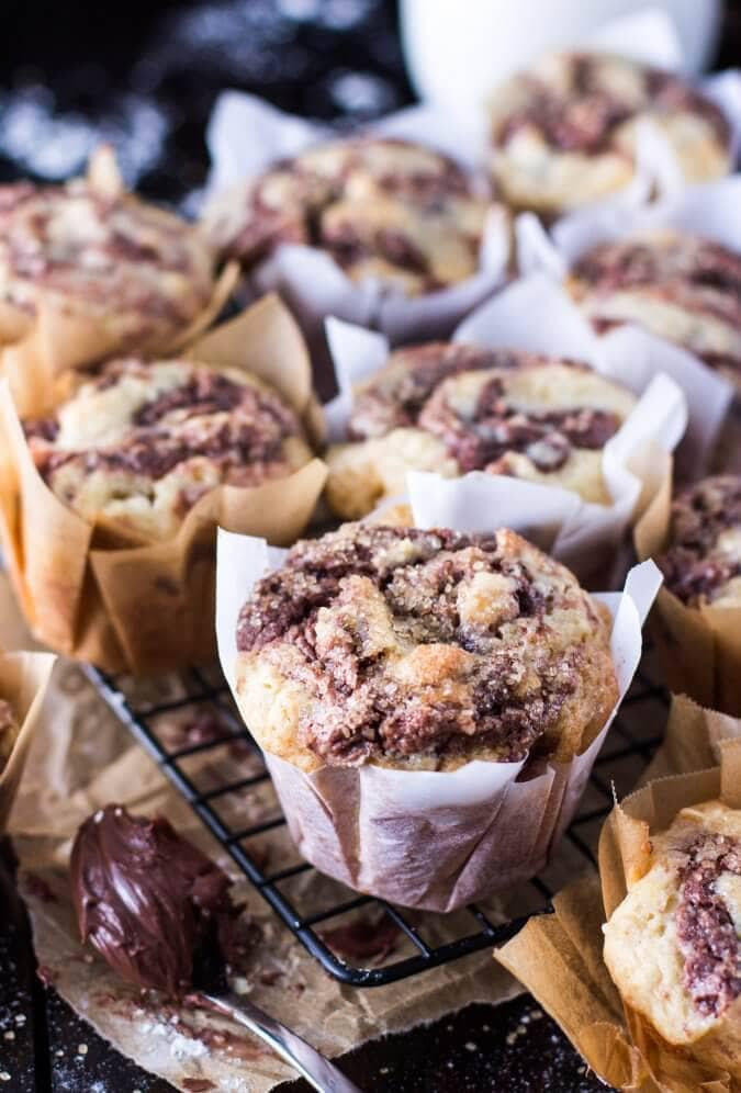 Swirled Nutella Muffins