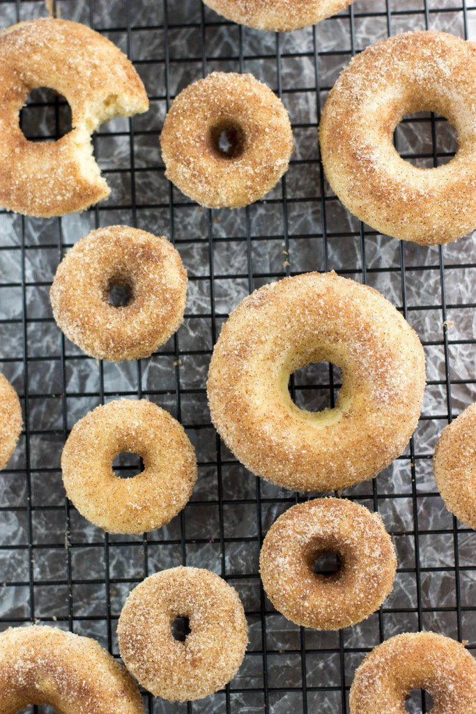 Baked Snickerdoodle Donuts || www.SugarSpunRun.com