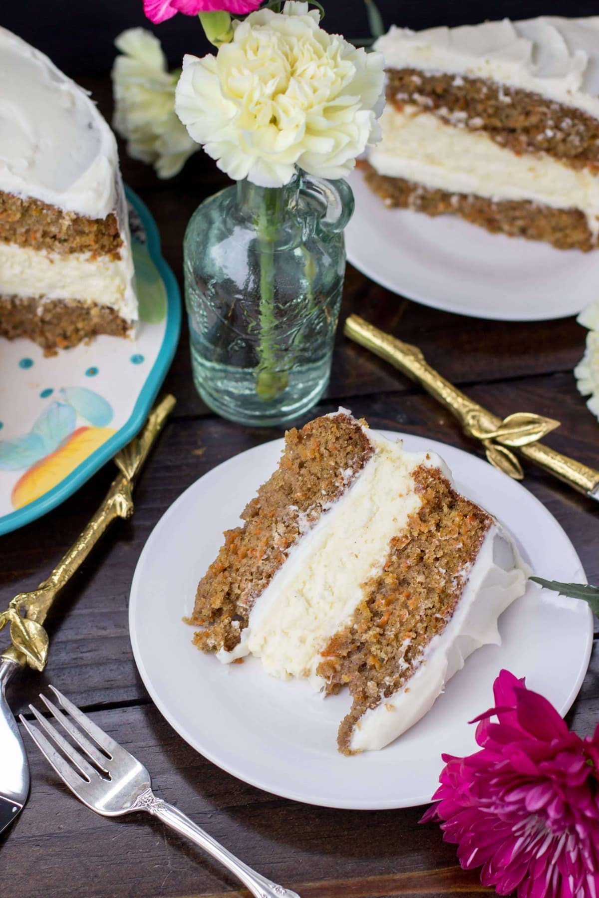 A Decadent Carrot Cake With A Surprise Cheesecake Layer In The Middle Sugarspunrun