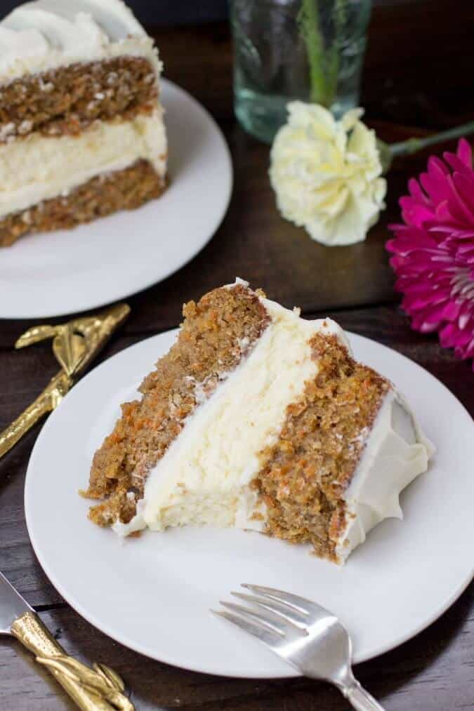 Cheesecake Layered Carrot Cake