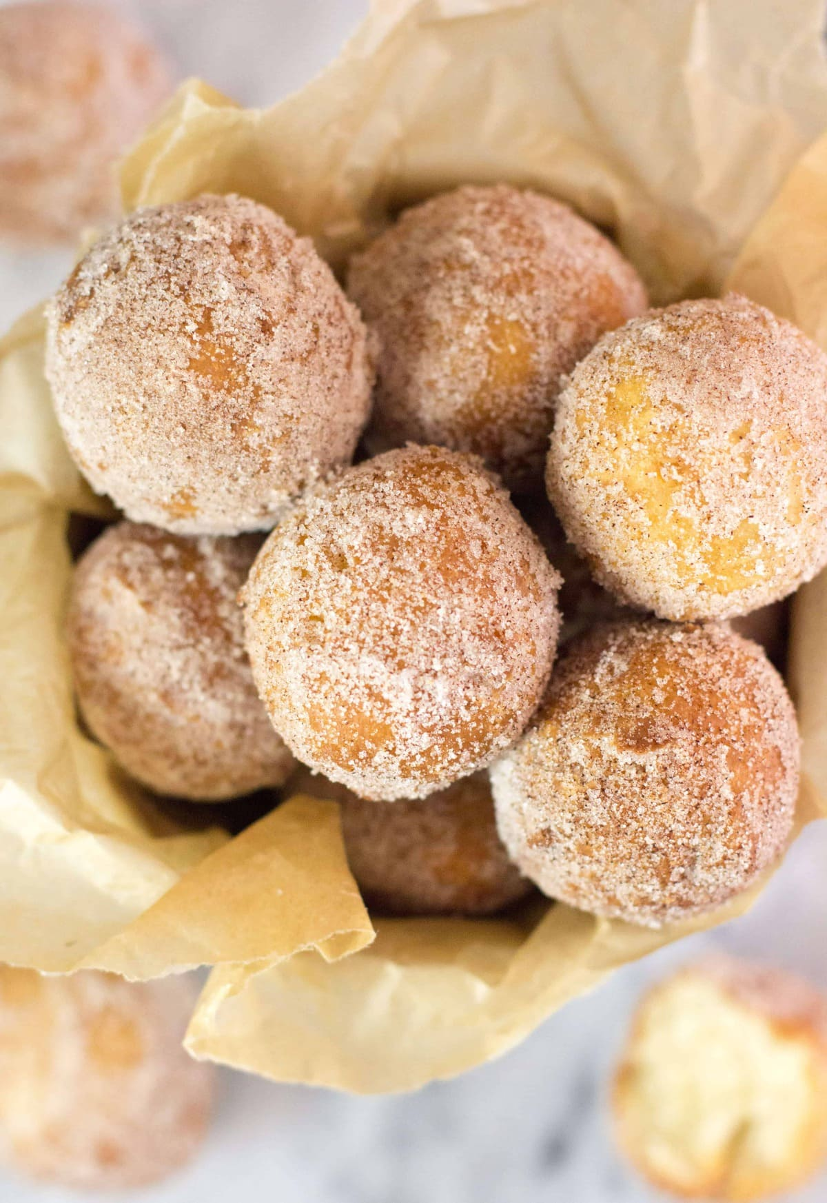 Fried Donut Holes (No Yeast) - Sugar Spun Run