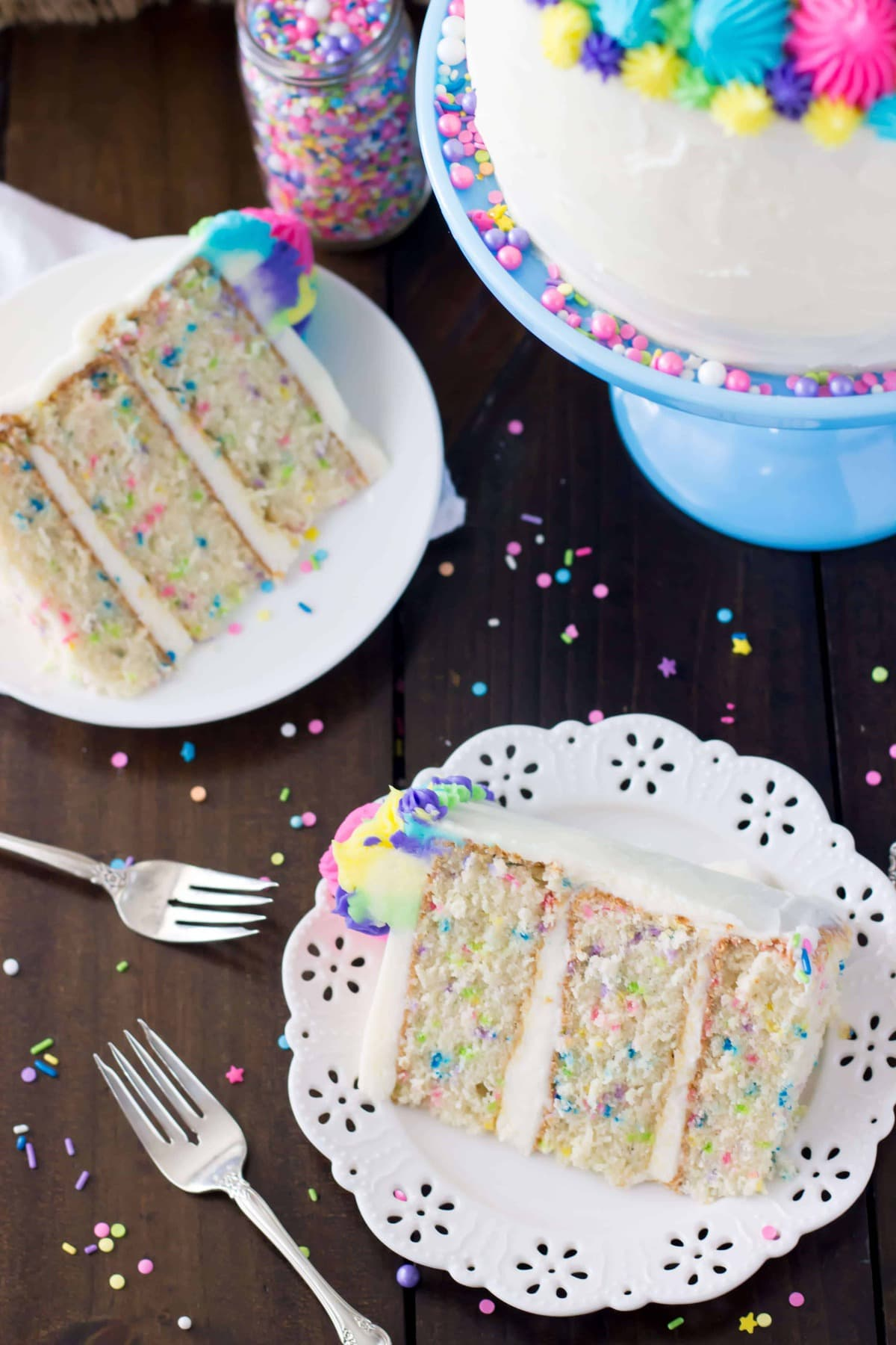 funfetti cake from scratch (& a very merry unbirthday) - sugar spun run